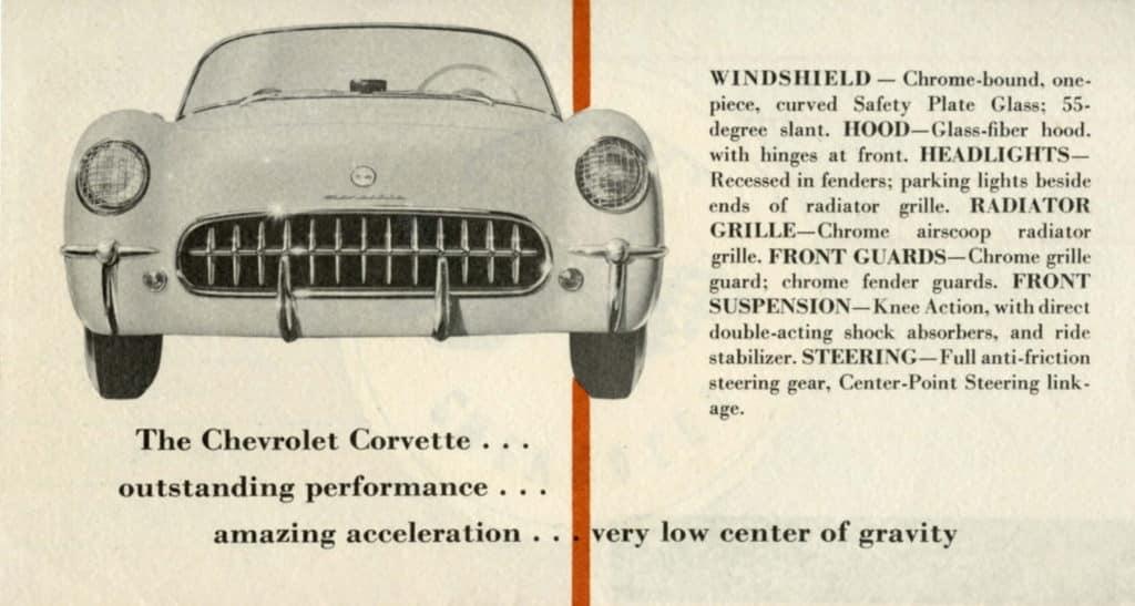 1953 Corvette Brochure