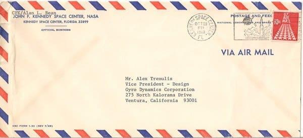 10-29-1968 Bean Envelope