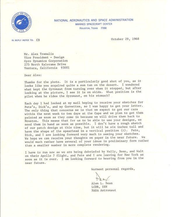 10-29-1968 Bean Letter
