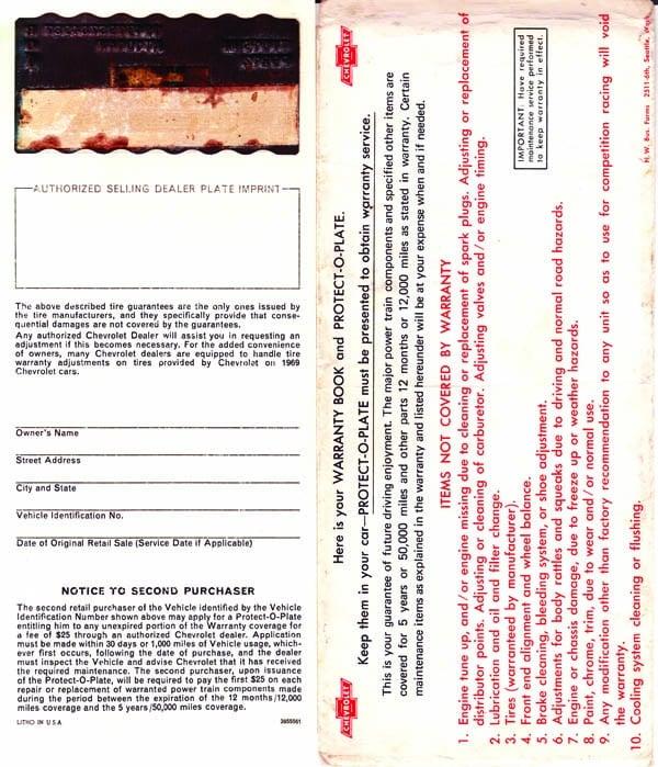 Warranty Book | Protecto Plate