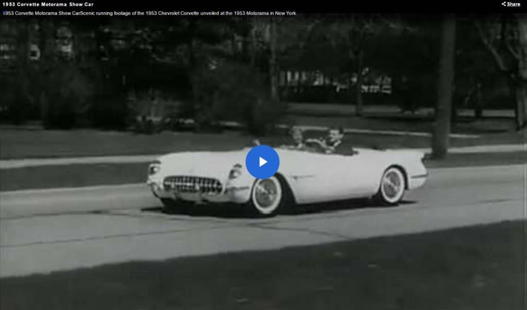 1953 Corvette Motorama Show Car Video