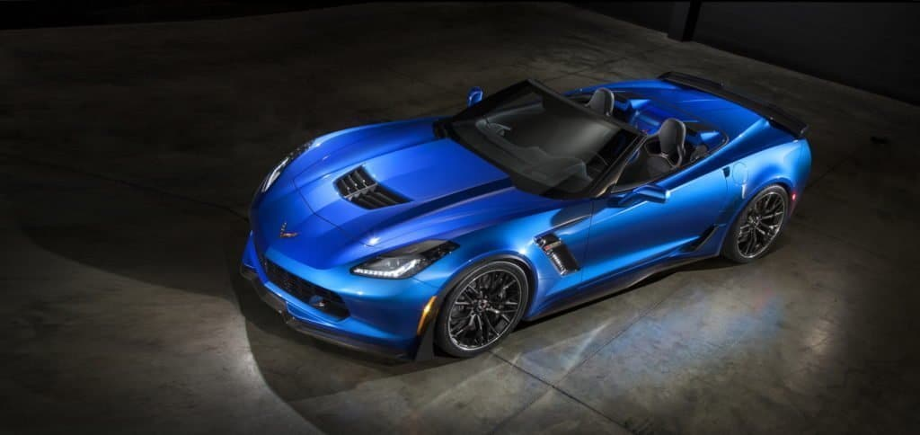The all-new, 2015 Corvette Z06 will be one of the most capable convertibles on the market, offering at least 625 hp, 0-60 acceleration in under 3.5 seconds, true aerodynamic downforce, and available performance hardware including carbon-ceramic brakes and Michelin Pilot Sport Cup tires.