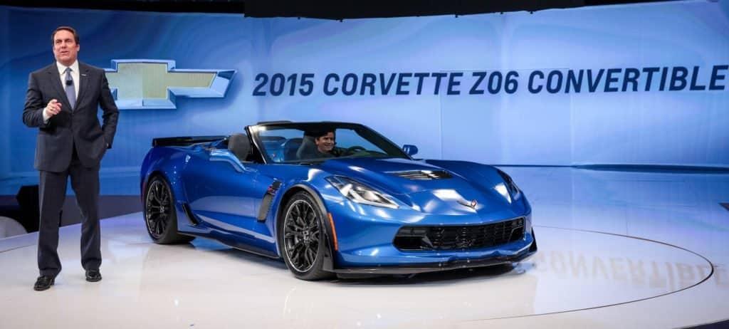 Mark Reuss Unveiled 2015 Corvette Z06 Convertible
