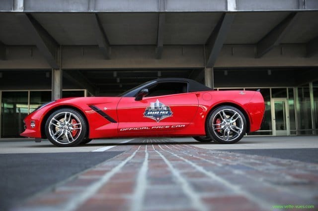 A 2014 Corvette Stingray convertible will serve as the pace car for the inaugural Verizon IndyCar Series Grand Prix of Indianapolis Saturday May 10, 2014
