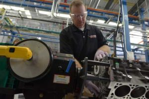 Starting in March 2015, Chevrolet Corvette Z06 customers can take part in the exclusive Corvette Engine Build Experience at the new Performance Build Center within the Bowling Green Assembly Plant. The $5,000 package allows customers work alongside skilled engine assembly technicians (like Steve Stinson, pictured) to build the 650-hp, LT4 engine that will go in their new Corvette Z06. © General Motors