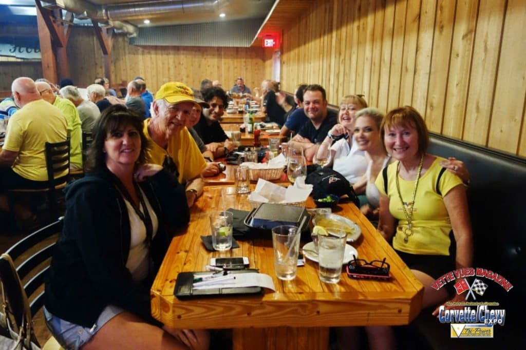 Sebring 2015: Cowpoke's Watering Hole with friends Donna Piazza, Jim Robertson, Harlan Charles, Sonny Lenaers, Gary Garwood and Kathy Maki Flick.