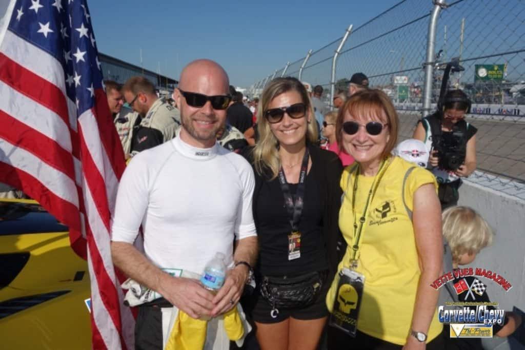 Charley with Jan Magnussen and Christina Bergdahl Magnussen.