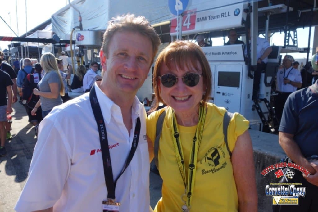 Charley with Allan McNish.