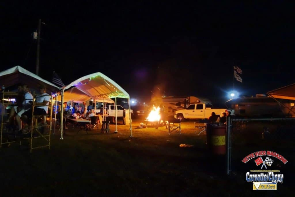 The colorful camp displays at the 2015 Sebring race.