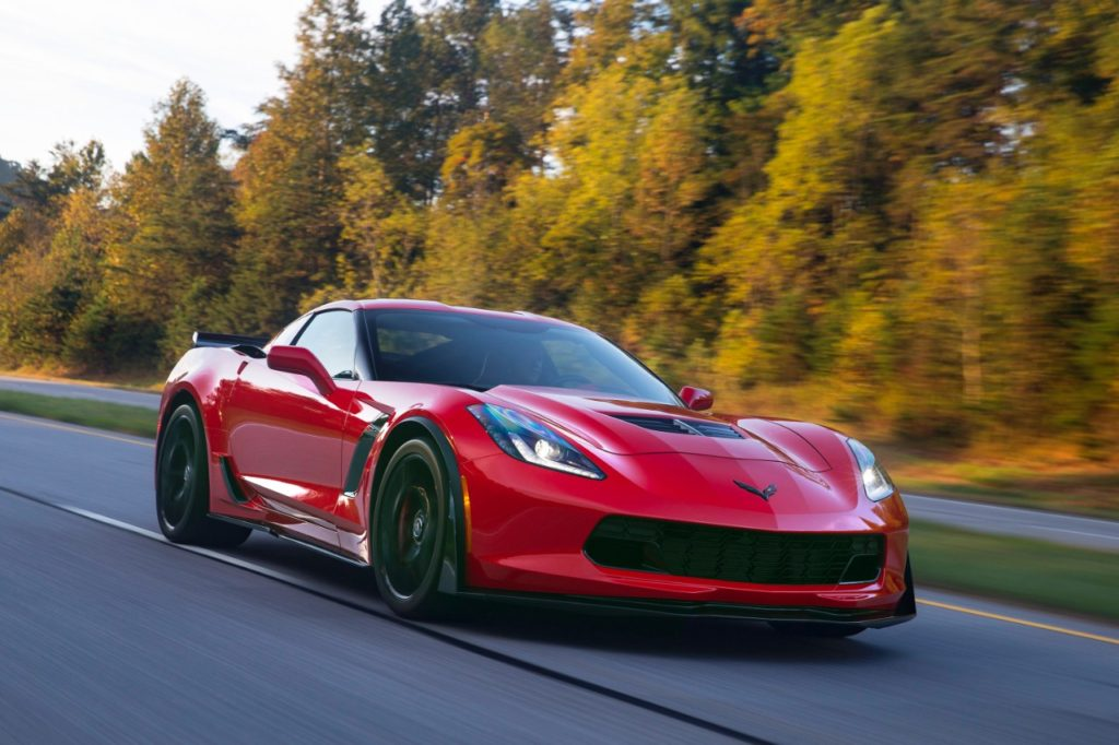2016 Red Corvette Front