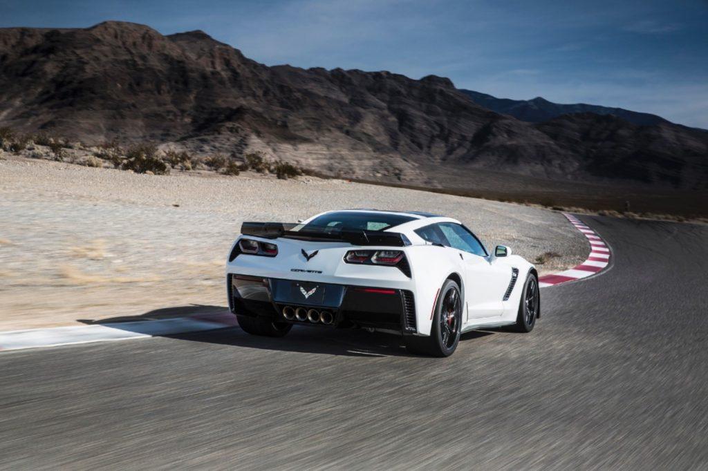 White 2016 Corvette Back