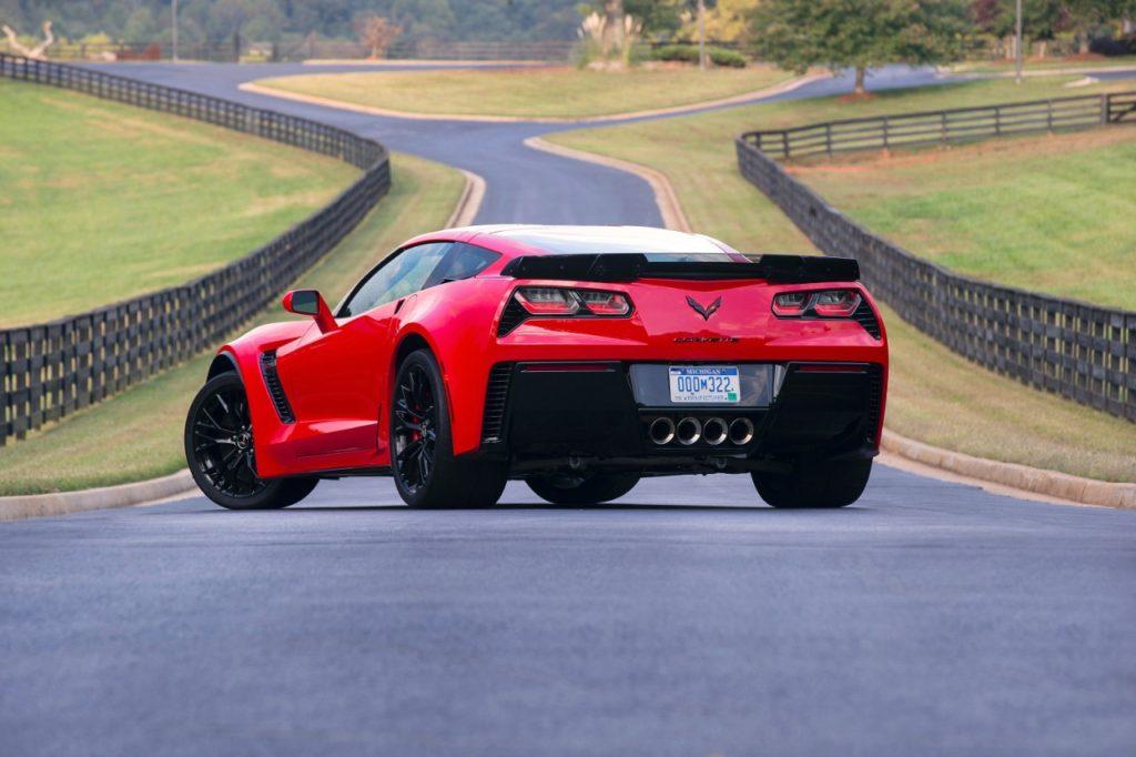 2016 Red Corvette Back