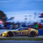 The #4 Chevrolet Corvette Racing C7.R, driven by Tommy Milner, Oliver Gavin and Marcel Fässler, race to victory in the GTLM class Saturday, March 19, 2016 during the 12-Hours of Sebring WeatherTech SportsCar Championship endurance race at Sebring International Raceway in Sebring, Florida. (Photo by Richard Prince for Chevy Racing) © General Motors