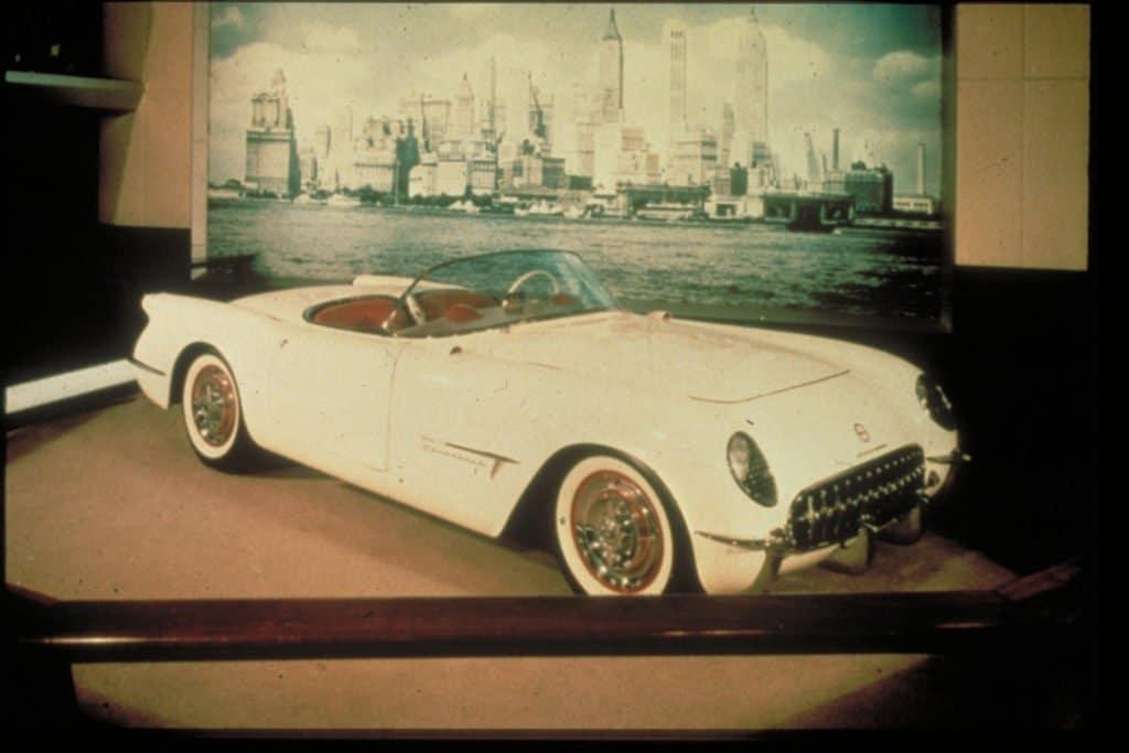 1953 Motorama Corvette on display