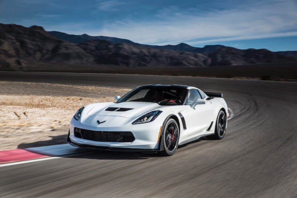 The 650-hp, 2016 Chevrolet Corvette Z06 is one of the most capable vehicles on the market, capable of accelerating from 0 to 60 mph in only 2.95 seconds, achieving 1.2 g in cornering acceleration, and braking from 60-0 mph in just 99.6 feet. © General Motors