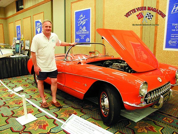 Ken Kayser poses with his 1957 Corvette at the 2007 Bloomington Gold Special Collection XXIII