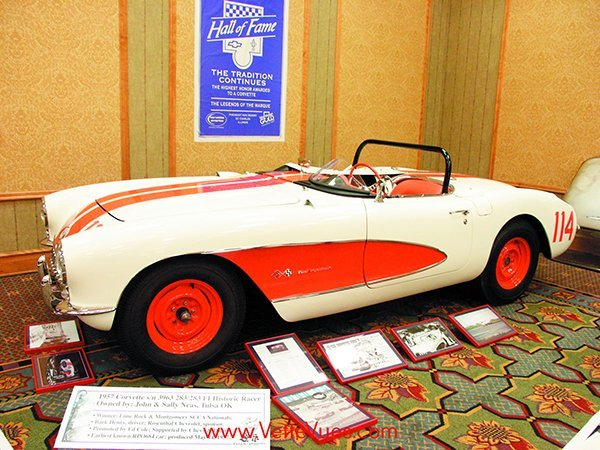 1957 SCCA Corvette FI Historic Racecar on display at the 2007 Bloomington Gold Hall of Fame.