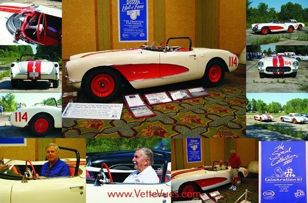 1957 SCCA Corvette FI Historic Racecar on display at the Bloomington Gold Special Collection XXII - Celebration '57 held at the Pheasant Run Resort, St. Charles, Illinois, June 2007.