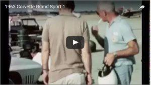 1963 Chevrolet Corvette Grand Sport (Car 38-1) in white at Sebring during December 1962 testing Firestone tires.