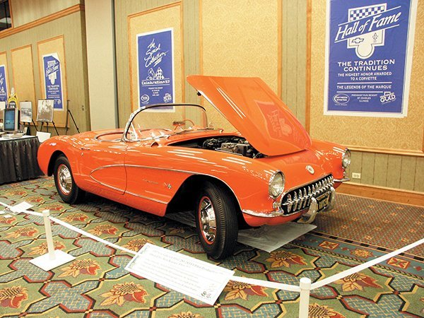 """Chevrolet built 6,339 1957 Corvette convertibles. Of these, 713 cars were ordered with RPO 579B (11% of the cars built). This was was the option code for the 283/283 with fuel injection. This 1957 Corvette #162 was one of approximately twelve """"pilot"""" RPO-579 fuel injection Corvettes assembled at the St. Louis Corvette plant in the first two weeks of October 1957."""