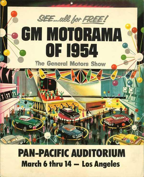 1954 GM Motorama promotional poster