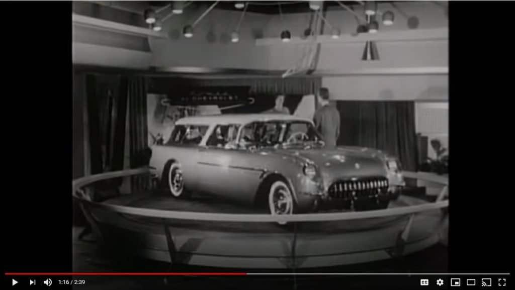 1954 Corvette-based Chevrolet Nomad at the GM Motorama of 1954