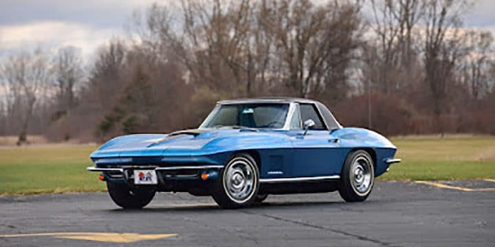 Unrestored 1967 Corvette 427/435 HP,  to be offered at the Mecum Monterey Auction Monterey (2016)
