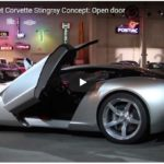 2009 Chevrolet Corvette Stingray Concept Scissor Doors: The automatic door on the 2009 Chevrolet Corvette Stingray concept swings shut.