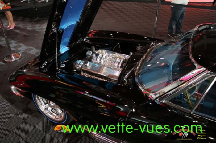 1963 Black Corvette By Bobby Alloway. An Overview Of The Engine Compartment  In Bobby Allowayu0027s