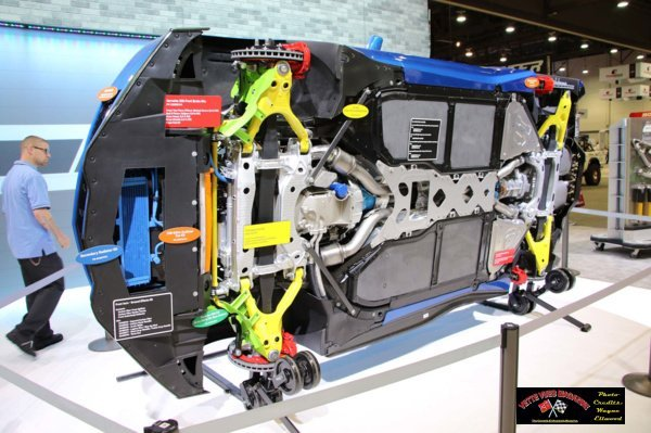 M Chassis on display in the GM Booth at the 2016 SEMA event.