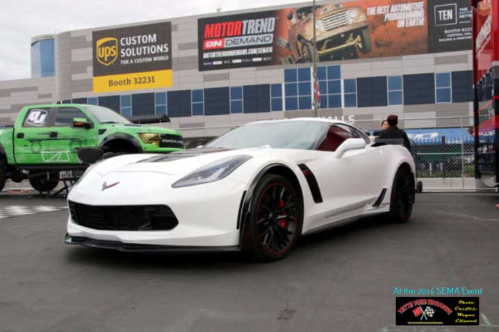 MOTHERS POLISHES DISPLAYED AT WHITE CALLAWAY C7 CORVETTE