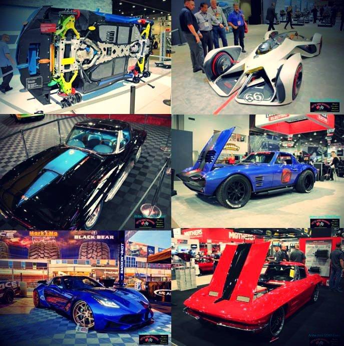 Corvettes at the 2016 SEMA event.
