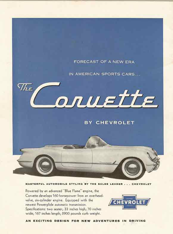 1953 Corvette Magazine Ads