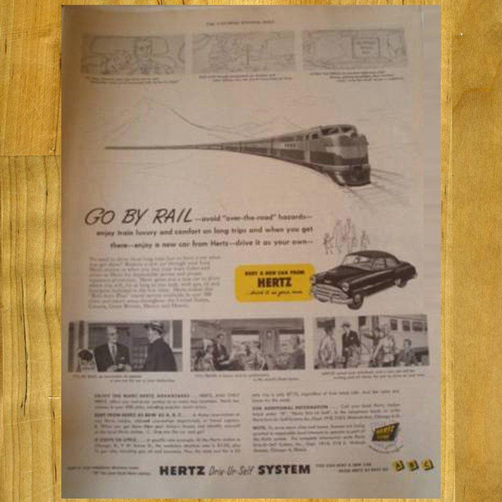 1951 Vintage Hertz Ad