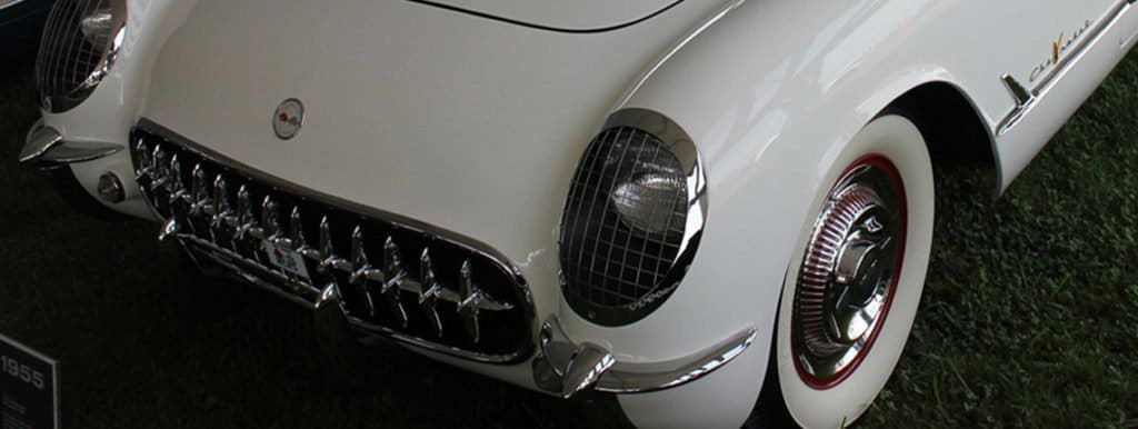 1955 Polo White C1 Chevrolet Corvette
