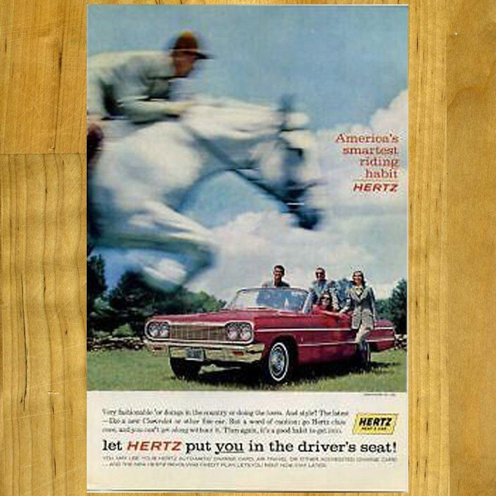 Vintage Hertz Ad with Chevrolet