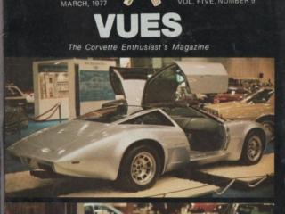 March 1977 Cover Vette Vues Magazine