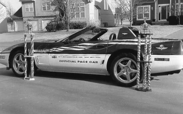 1995 NCCC Corvette Raffle Pace Car for sale, second owner. Excellent condition over 100 plaques and trophies. 52K miles. $24,500. Contact Bob, (816)519-4466 (M)