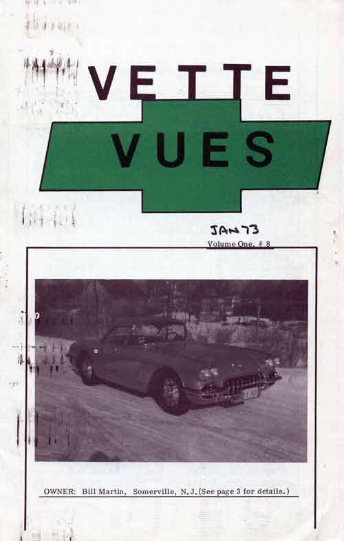 This is the first color cover of Vette Vues
