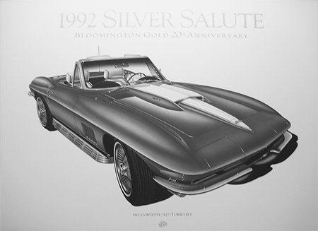 I have NEW, limited edition lithographs of early 60's Corvettes. They were marketed in magazines like Car & Driver, etc. for the original price of about $30 plus shipping and handling. I prefer to sell them as a group to be purchased by a car club or other group of Corvette enthusiast. If you're interested and would like some pictures,please contact me at my phone and/or emailjimmpy1@netzero.com. I will take $15 each plus shipping and handling IF all of the 15 lithographs are purchased as a package. Please contact JIM @ 630-742-9336 Chicago, IL (9/17)