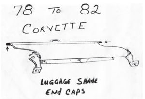1978-1982 Corvette luggage shade end caps for sale.