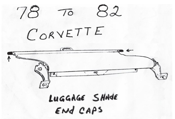 1978-1982 luggage shade end caps, 2 for $5, includes shipping and handling. Clyde Fowler, PO Box 1145, Seabrook, NJ 03874. (603) 474-2871, email address at cmeyou2@aol.com