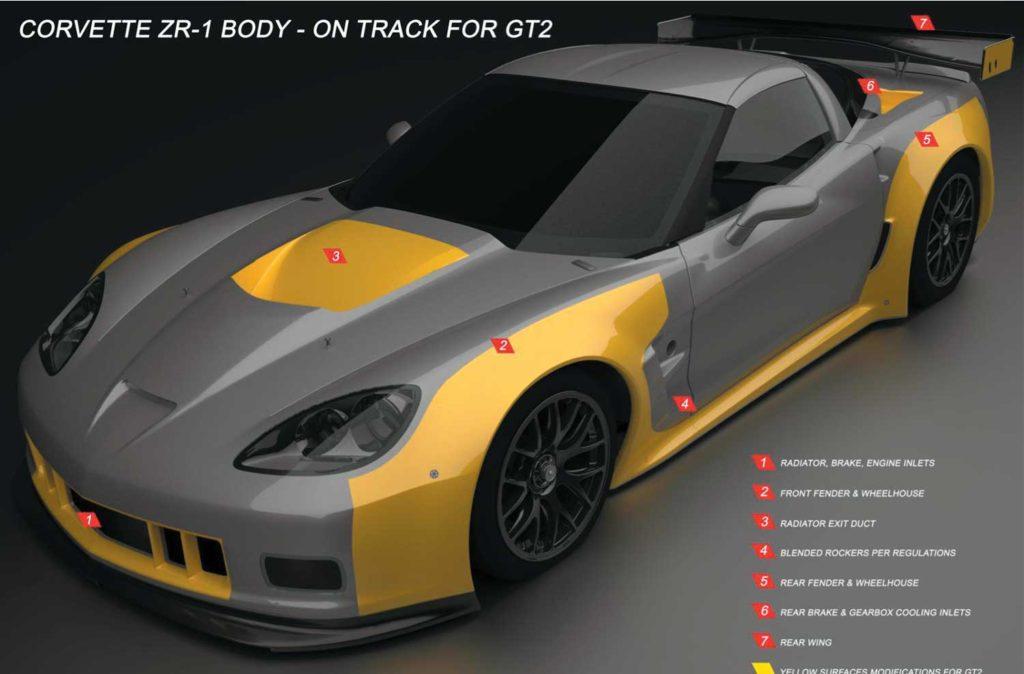 2010 Corvette ZR-1 Body - on track for GT2