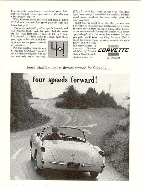 1957 Corvette Magazine Ad