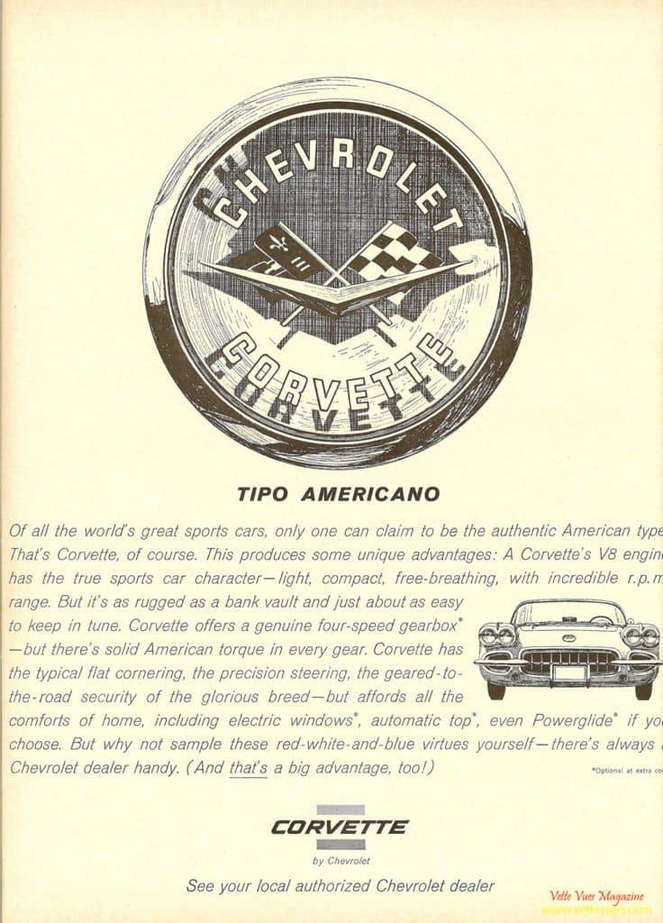 1960 Corvette Ad - TIPO AMERICANO