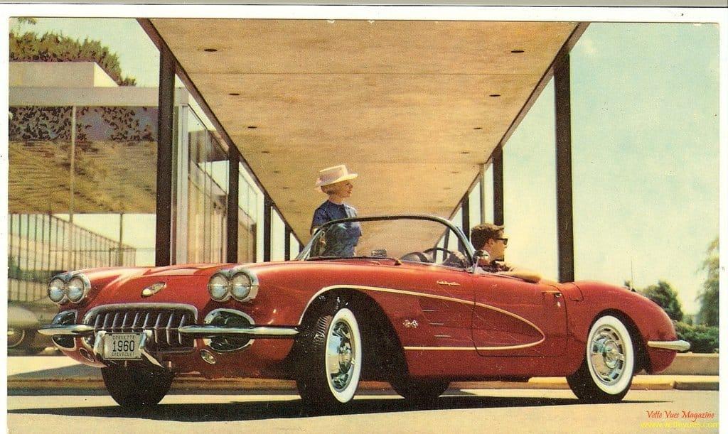 1960 Corvette Postcard
