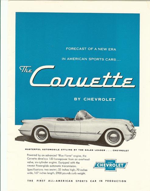1954 Corvette Magazine Ad