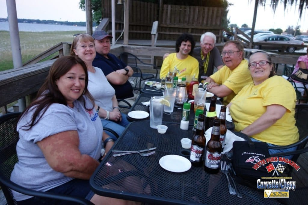 Charley Robertson grabbing a bite to eat with friends while covering the 2015 Sebring race for Vette Vues Magazine.