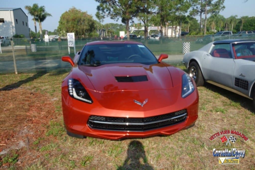 Friday Morning Corvette Corral with the new Sunrise Orange metallic Corvette.