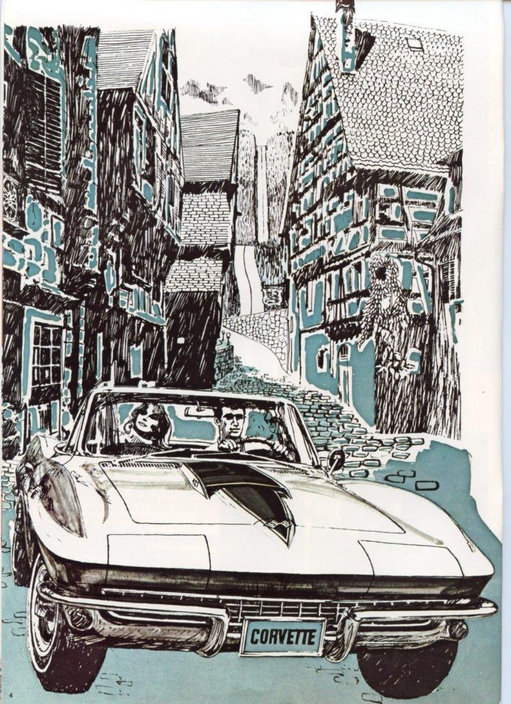 1967 Corvette Brochure - front shot drawing